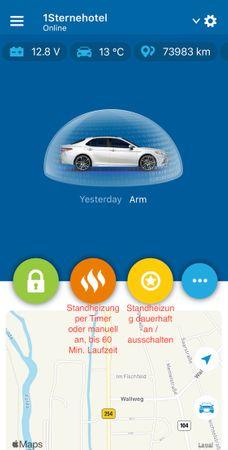 Die smarte Standheizungsteuerung, Alarmanlage, Ortung, Wegfahrsperre, per App für Mercedes Marco Polo (W447) ab BJ2014 – Bild 1