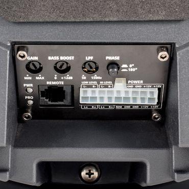 AMPIRE Aktiv-Subwoofer, 2x 16cm (6,5'') 150/300 Watt für die Reserveradmulde – Bild 5