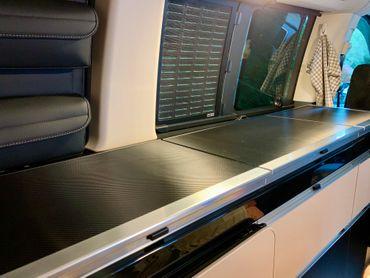 Carbon Struktur Folie für Mercedes Marco Polo W447 Abdeckung Küchenzeile – Bild 1