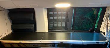 Carbon Struktur Folie für Mercedes Marco Polo W447 Abdeckung Küchenzeile – Bild 4
