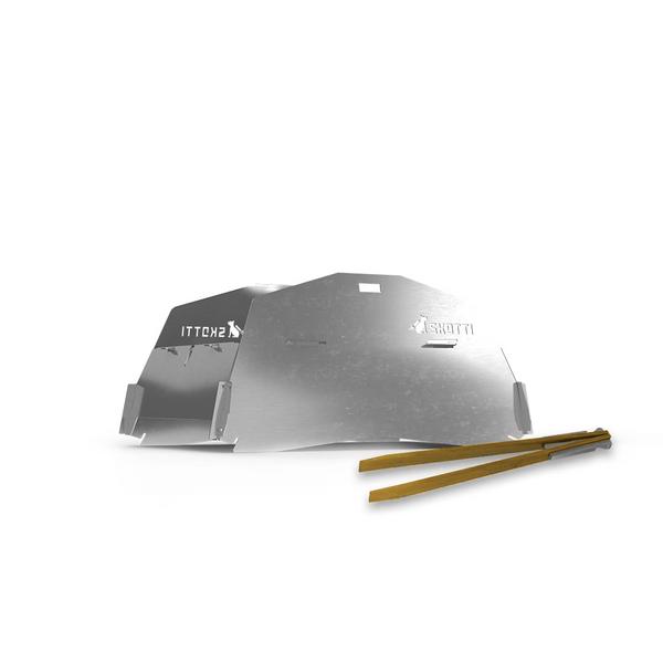 Deckel für SKOTTI Grill, Edelstahl steckbar, Ofen-/Toastfunkt.+Windschutz