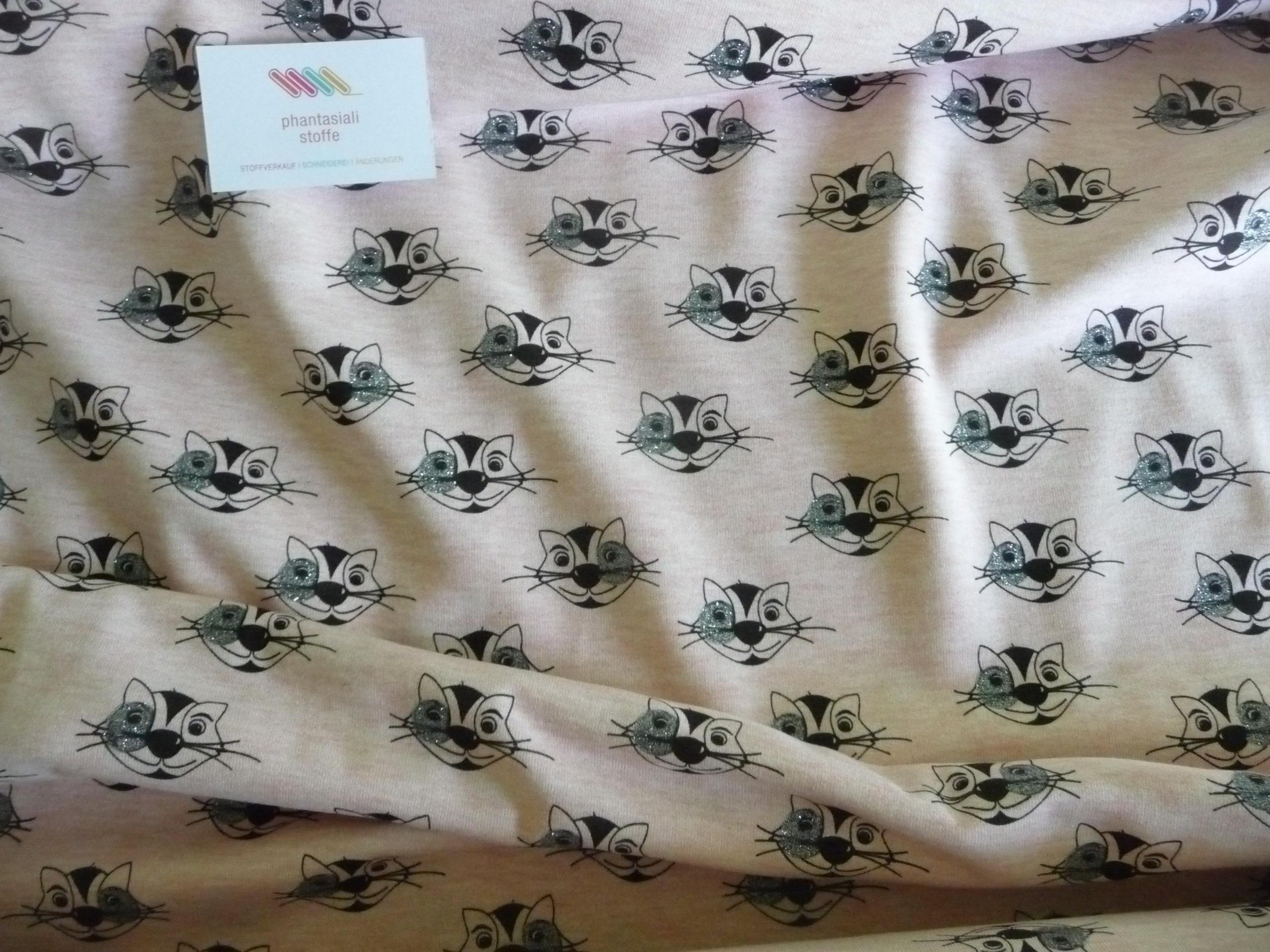 Sweat-Shirt, Baumwolle, Katzen, Glitzer