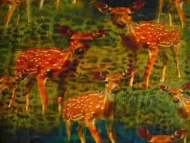 Jersey Stoffe,Kleiderstoff,Viskose,Elastan,Rehe,Stoff,Stoffe,Animalprint,168 cm – Bild 2