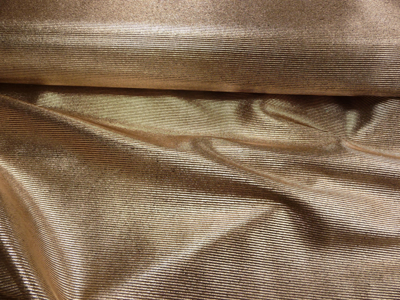 Burda Style, Gold, Querstreifen, Meterware, Polyester, Elastan