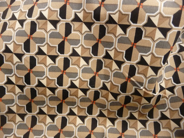 Baumwolle, Elastan, geometrisches Muster, braun, rot
