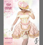 Cosplay, Bouquet de fleur, Rosa, Blumenkleid, Mini 001