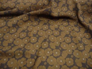 Burda Style, Polyester, Blumenmuster, Grün, Schwarz – Bild 2