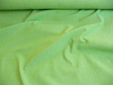 Baumwolle, Stoffe, Meterware Grob Gewebt Fest Grasgrün