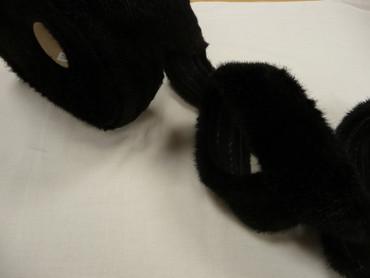 Pelzband, schwarz, Baumwolle, Acryl – Bild 3