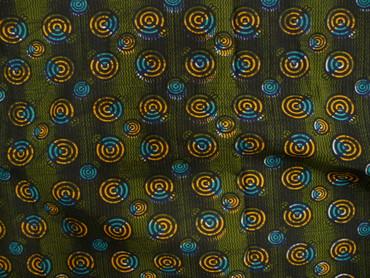 Baumwollstoff, Afrika, grün, Türkis, Charity – Bild 3