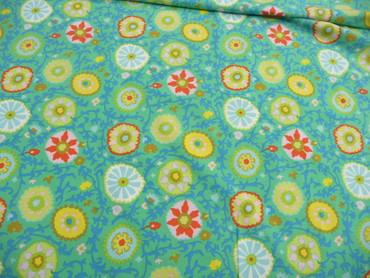Kinderjersey, Baumwolle, Blumenmustr Jersey, Blumen, Kinderstoff