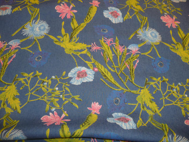 Baumwolle Jeans Stoff Elasthan, Jeansstoff, Blumenmuster, Baumwolle, Elastan