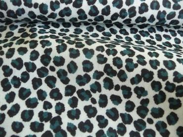 Burda Style, Leopardenmuster, Petrol, Schwarz, Creme