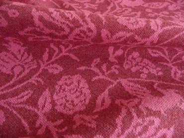 Recycelter Stoff, Baumwolle, Blumenmuster, Polyester, Jerseystoff