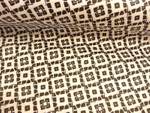 Baumwolle, Schwarz, Weiß, Leicht, klein gemustert, Vierecke, Meterware 001