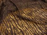 Polyesterstoff, Burda Style, Netz, Strick, Metall, gold, schwarz, rot 001