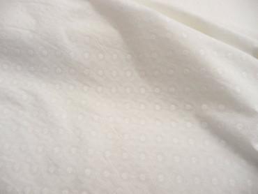 Baumwolle, Weiß, Stickerei, Kreise, Ovale, Meterware, geometrisch – Bild 3