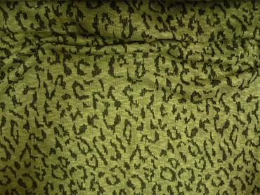 Strickstoff, Jersey, Baumwolle, Polyester, Grün, Grau, Meterware – Bild 3