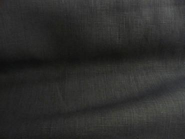 Leinen, schwarz, mittelschwer, Einfarbig, Meterware, Stoff Leinen, schwarz, mittelschwer