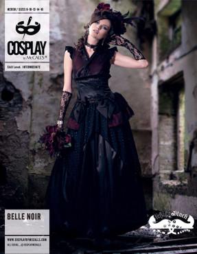 Cosplay, Bell Noire,Oberteil, Rock,separater Ärmel,Schnittmuster – Bild 9