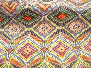 Burda Style, Baumwolle, Polyester, geometrisches Muster, Meterware
