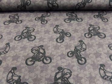 "Kleider- Kinderstoff v.Hilco ""Street Style ""Sweat"" 150 cm br.je 50 cm BW/EL – Bild 1"