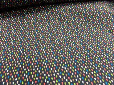 "Kinderstoff ""Colorful Toucan"" Feinjersey m. Druck  je 50cm  BW-Mischg mehrfarbig – Bild 1"