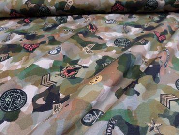 "Hilco Kinderstoffe ""Patch Army"" je 50 cm 170 cm br.  -French - – Bild 2"