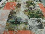 "Kleiderstoff  ""BW woven imprinted flowers"" 140 cm br..NEU 100% BW mehrfarbig 001"