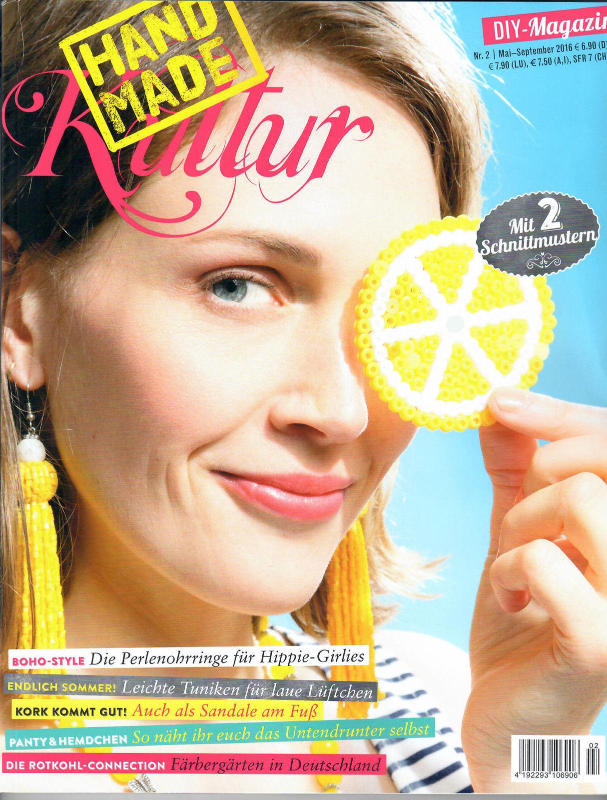 hand made kultur, ausgabe nr.2 mai - sept.2016 diy-magazin mit 2