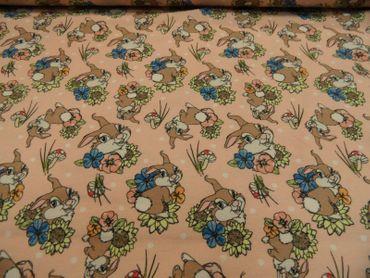 "Kinderstoff Disney""Bambi - Klopfer Feinjersey je 50cm BW-Mischg mehrfarb.m.Motiv – Bild 2"