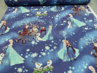 "Kinderstoff Disney ""Anna u. Elsa""   100 % Baumwolle  115 cm br. – Bild 2"