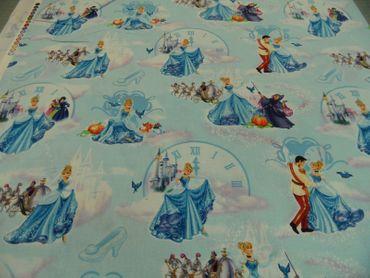 """Kinderstoff Disney """"Chinderella""""   100 % Baumwolle  115 cm br. – Bild 2"""
