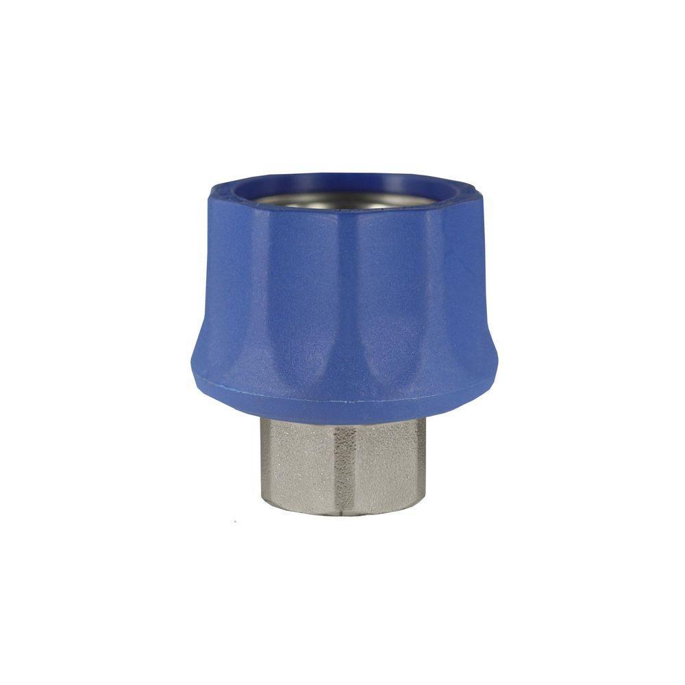 "Schnellkupplung ST-45 blau, DN=10mm, E=3/8"" IG, max. 250bar, max. 150°C, Messing"