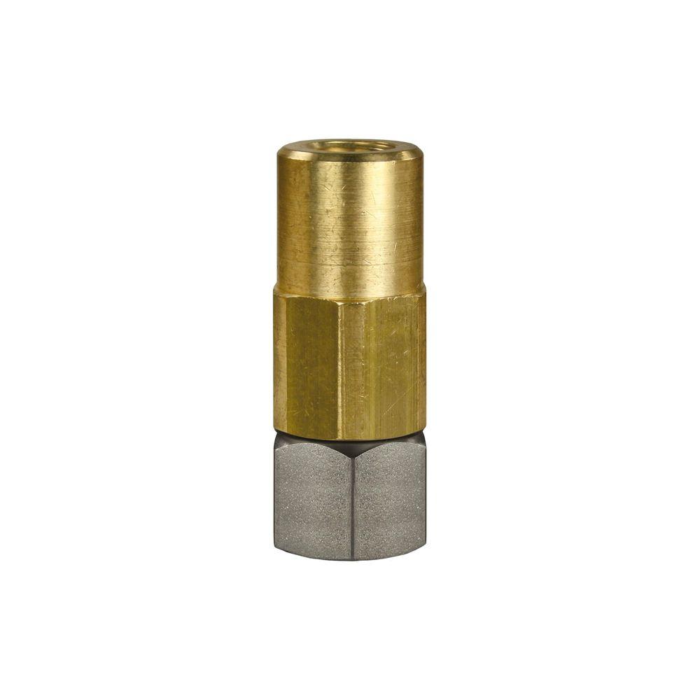 Drehgelenk ST 301, 3/8 Zoll IG - 1/4 Zoll IG, Edelstahl / Messing vernickelt, max. 350 bar, max. 90°C