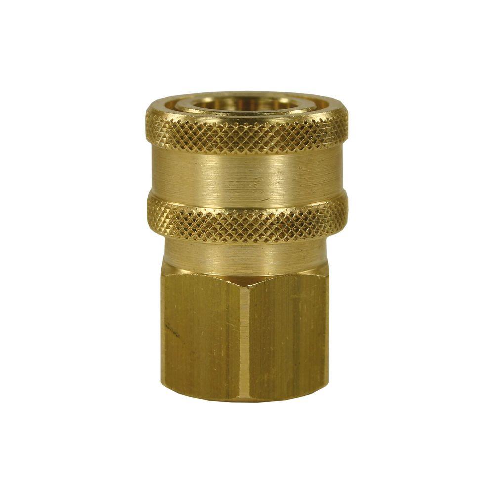 "Schnellkupplung SP-20, DN=8mm, E=3/8"" IG, max. 150bar, max. 100°C, Messing"