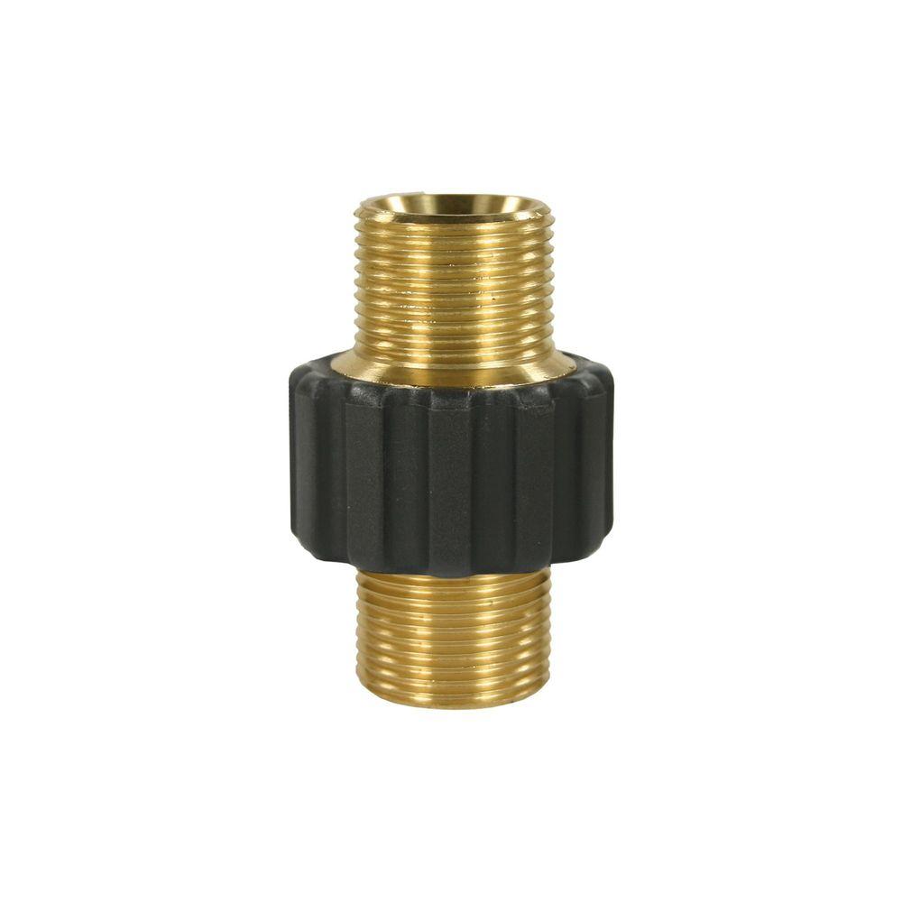 Schlauchverbinder M22 AG auf M22 AG, max. 400bar, Messing, SW 27