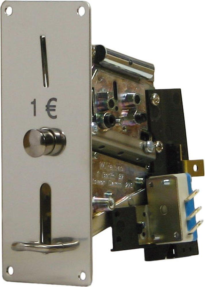 Münzprüfer MPR 310-F1 für JETON profiliert, Frontplatte 129x52mm