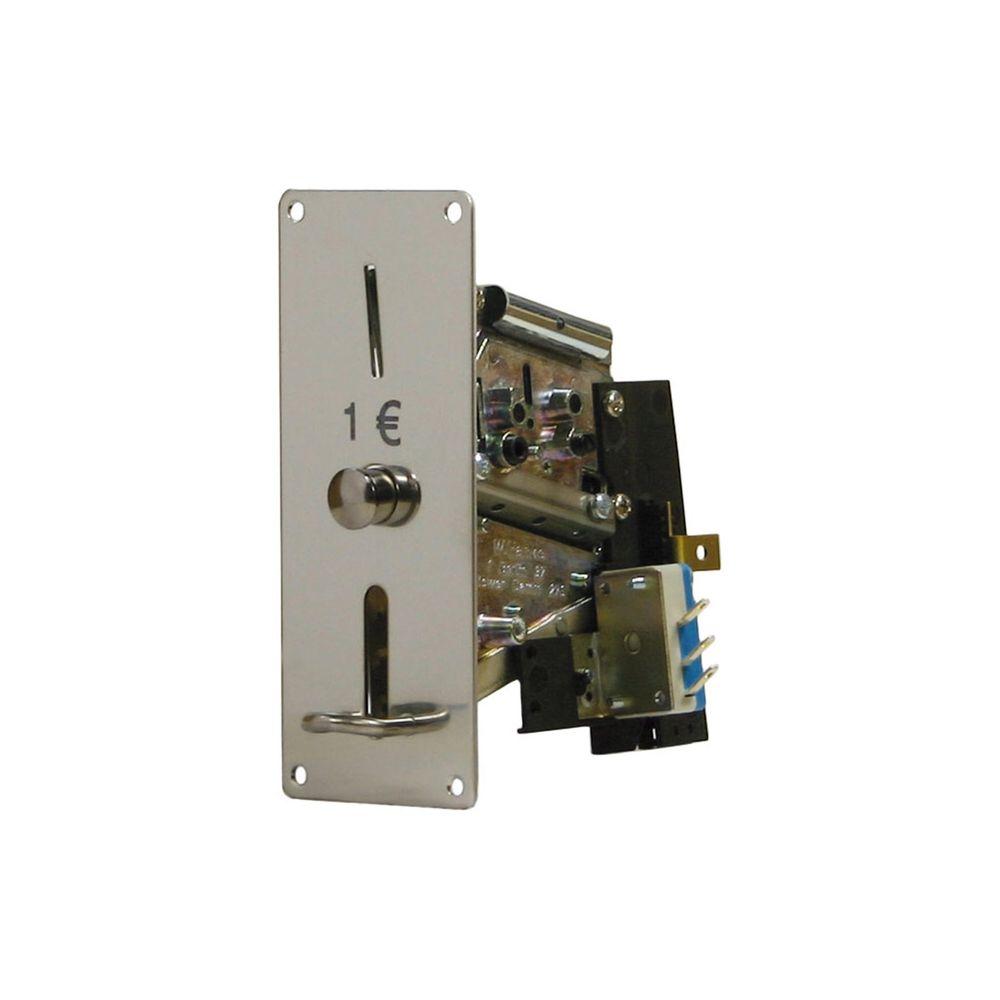Münzprüfer MPR 310-F1 für 1 Euro, Frontplatte 129x52mm – Bild 1