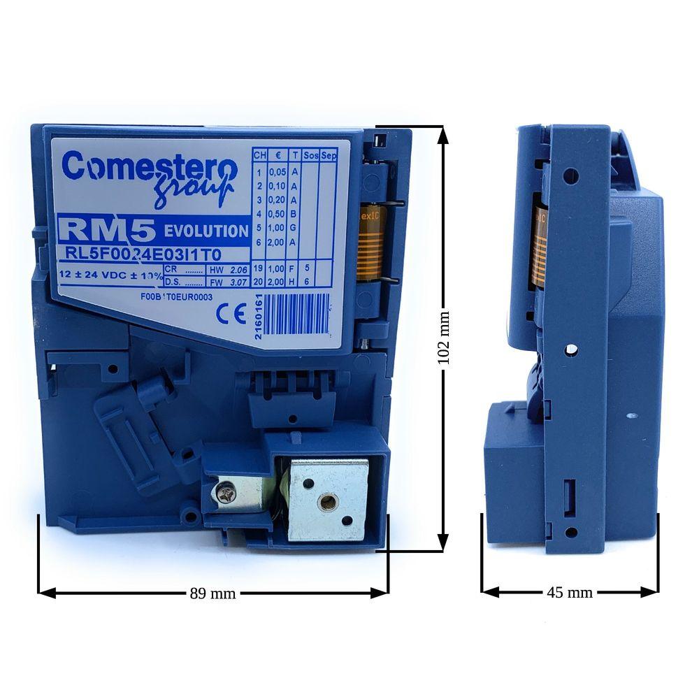 Comestero Münzprüfer RM5 Variante F, wetterfest inkl. Programmierung ( Mustermünzprüfer wird benötigt ) – Bild 2