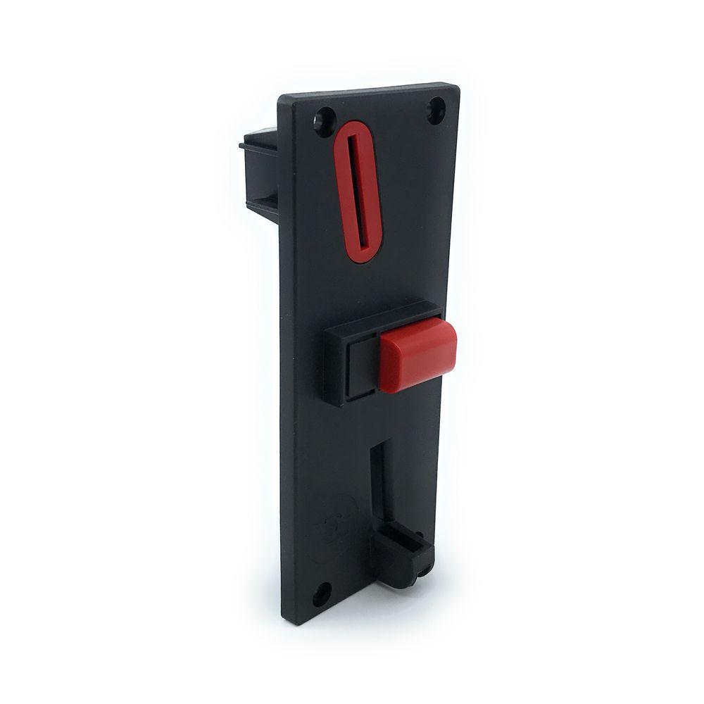 Frontblende F6 für Münzprüfer RM5, Carwash24 Bedientableau, rot/schwarz – Bild 1