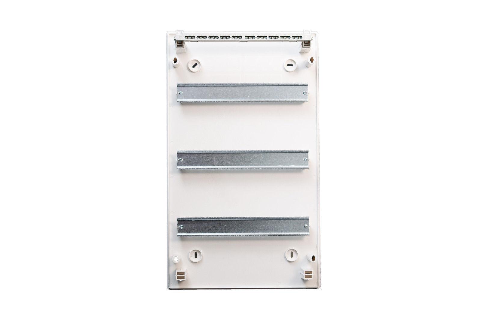 Sicherungskasten Unterputz IP40 Feuchtraum Verteiler Geh/äuse 3-reihig 36 Module Metallt/ür