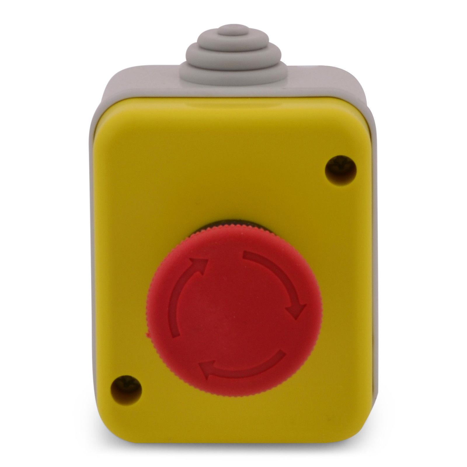 Red Sign Pilz Emergency Push Taste Schalter Station 1 NC Normally Closed BAF