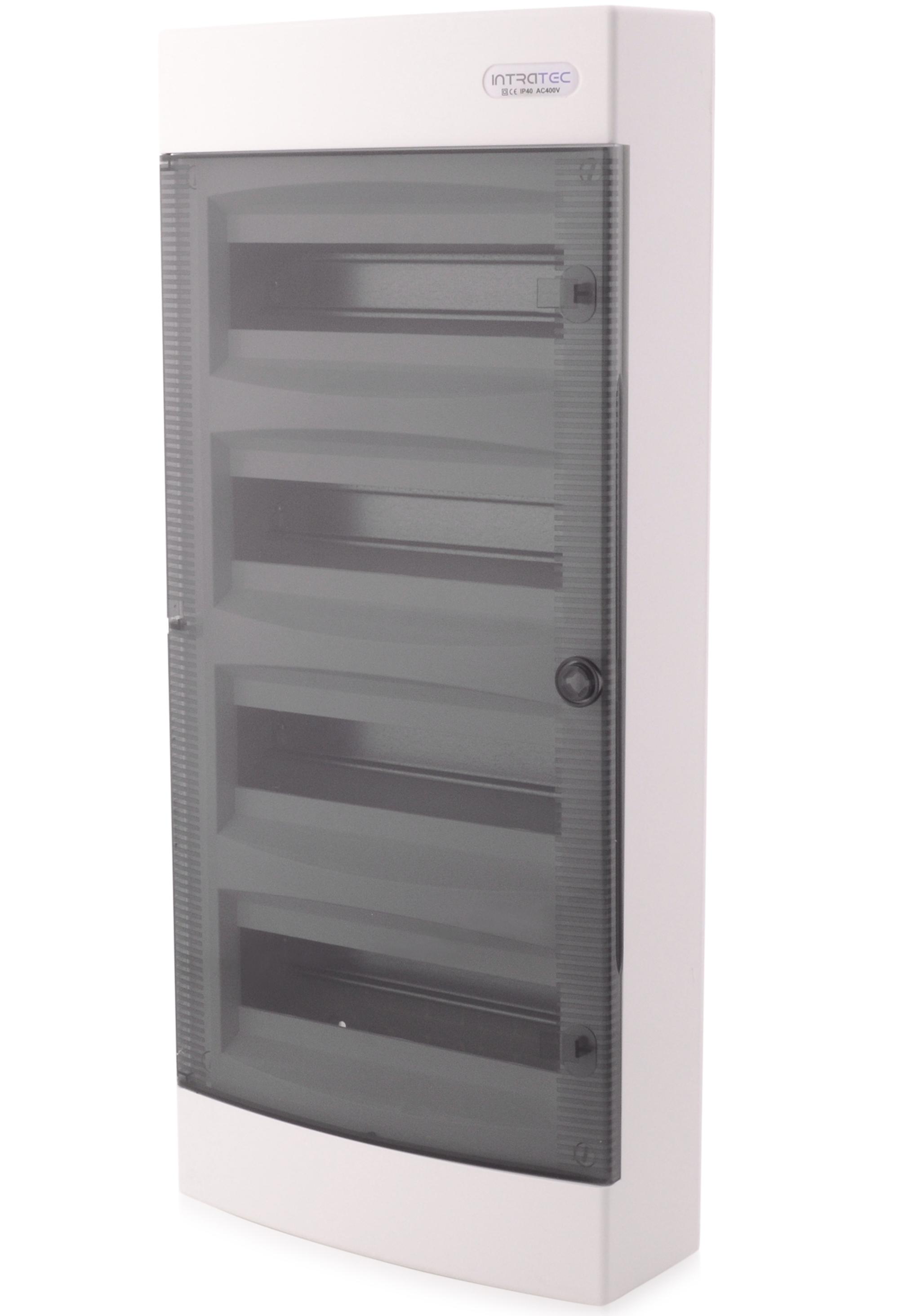 Sicherungskasten Aufputz IP40 Feuchtraum Verteiler Geh/äuse 1-reihig 12 Module Transparente T/ür