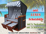Nordsee Strandkorb blau für Balkon Garten oder Terrasse bei XINRO in Bonn