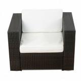 Bild 2 - 1er Lounge Sessel ✔ Serie Bahamas ✔ (erweiterbar) ✔ wählbar:  ✔ anthrazit ✔ braun-mix - XINRO