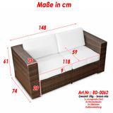 Bild 3 - 2er Lounge Sofa ✔ Serie Bahamas ✔ (erweiterbar) ✔ wählbar:  ✔ anthrazit ✔ braun-mix - XINRO