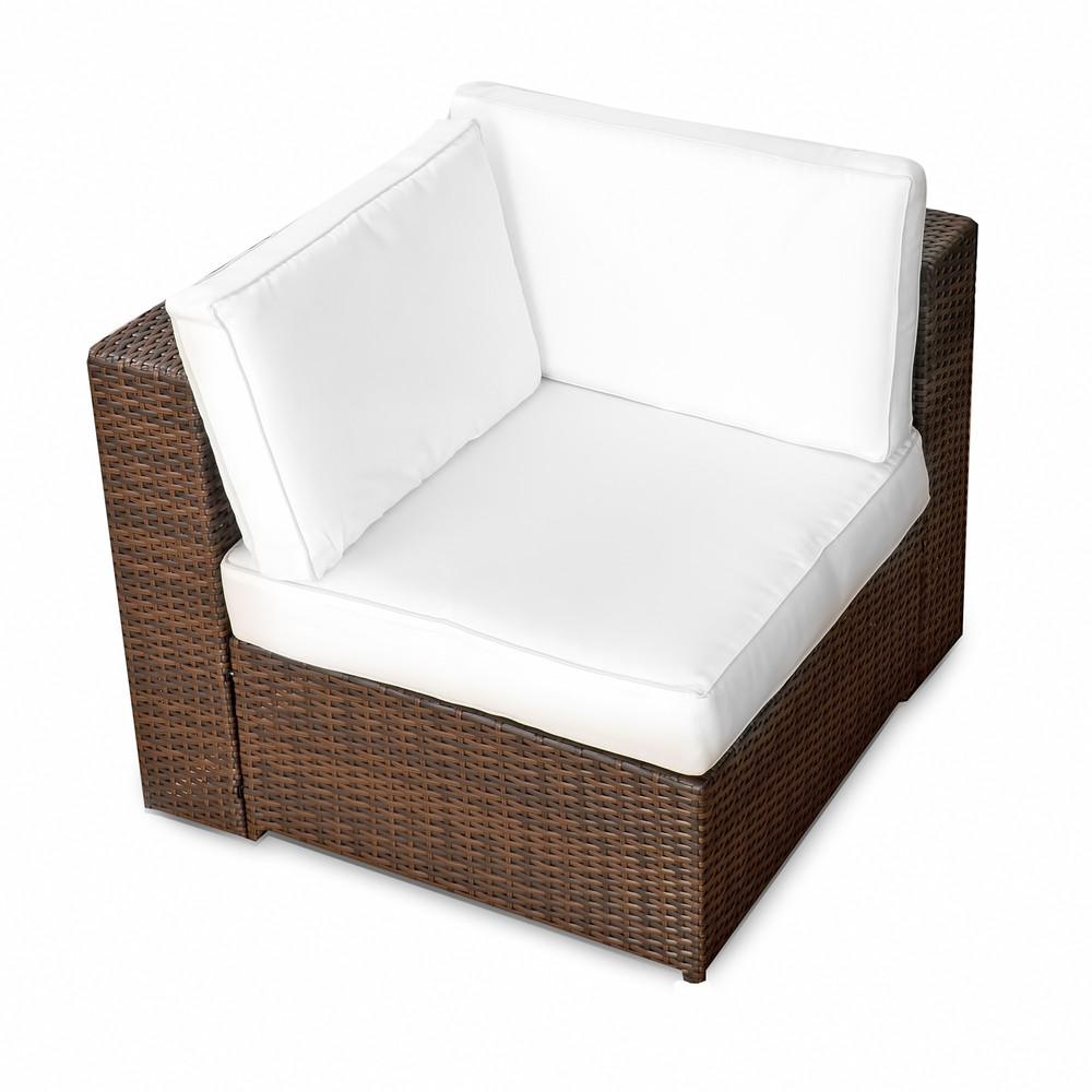 1er Lounge Eck Sessel ✔ Serie Bahamas ✔ (erweiterbar) ✔ wählbar:  ✔ anthrazit ✔ braun-mix