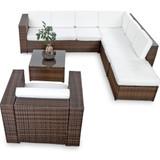 loungeset braun, loungeset polyrattan sofa, polyrattan loungeset günstig, günstig xxl loungeset, günstig loungeset polyrattan braun,  günstig kaufen polyrattan loungeset, günstig kaufen xxl loungeset