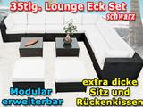 Mit der Eck Lounge Polyrattan XXL anthrazit 35-tlg. erhalten Sie geschmackvolle Möbel für den Garten.